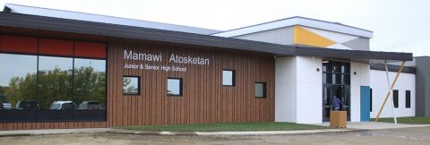 MANS' new junior and senior high school building (photo credit: Jordie Dwyer, Ponoka News)